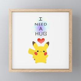 pikapika chu - hug Framed Mini Art Print