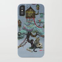 christmas tree iPhone & iPod Cases featuring Christmas Tree by Anna Shell