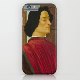 Sandro Botticelli - Portrait of Giuliano de' Medici iPhone Case