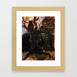 The Owl and Old Gnarly Framed Art Print