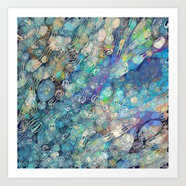 River Rocks Art Print