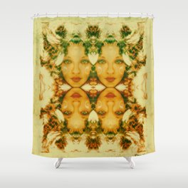 Faces two Shower Curtain
