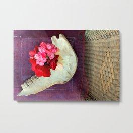 Bones n Begonias n Beautiful Burlap n... Metal Print
