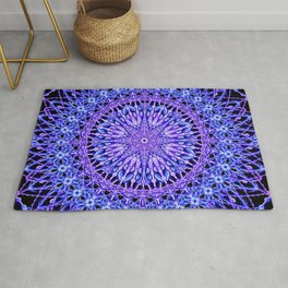 Beads of Light Mandala Rug
