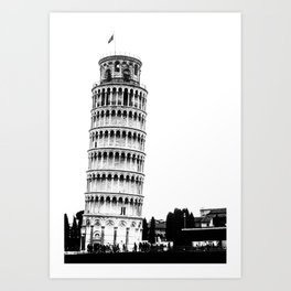 The Leaning Tower. Art Print