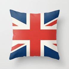 Union Jack UK Flag Throw Pillow