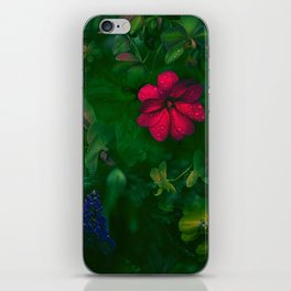 Gathering of Flowers - [Green Version] iPhone Skin