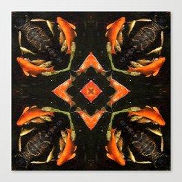 Swirling Koi Canvas Print