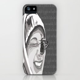 Happiness in Grayscale iPhone Case