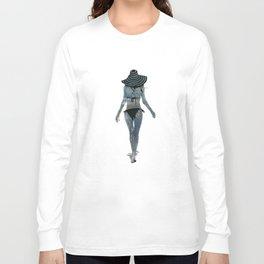Summer Stencil Long Sleeve T-shirt