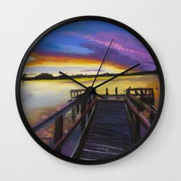 Shelley Bridge Sunset Wall Clock