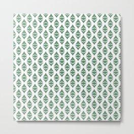 Ethereum Classic (Etc) - Crypto Fashion Art (Small) Metal Print