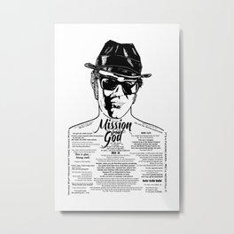 Elwood Blues Brothers Tattooed - 'Dry White Toast' Metal Print