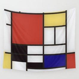 Piet Mondrian Wall Tapestry