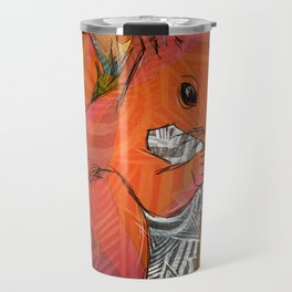 Squirrel Print Travel Mug