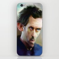 house md iPhone & iPod Skins featuring house md by robotrake
