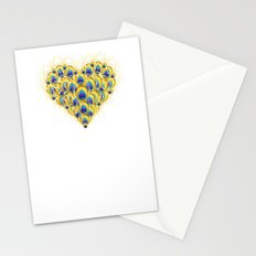 Peacock Heart Stationery Cards