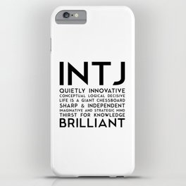 INTJ iPhone Case