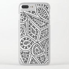 Doodle 9 Clear iPhone Case