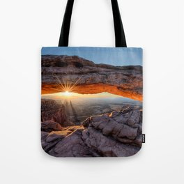 Mesa Arch Sunburst  by Lena Owens Tote Bag