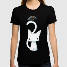Cat and Raven Womens Fitted Tee MEDIUM Black