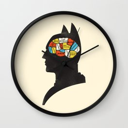 Bat Phrenology Wall Clock
