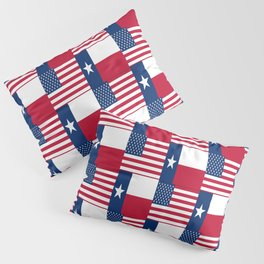 Mix of flag : Usa and Texas Pillow Sham
