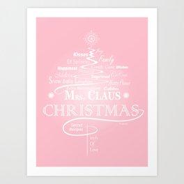 Mrs. Claus Secret Recipes Art Print