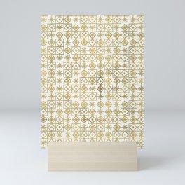 Geometric Lace – Gold Mini Art Print