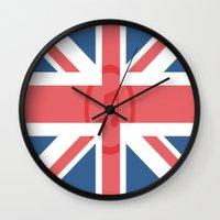 england Wall Clocks featuring  England by XKbeth