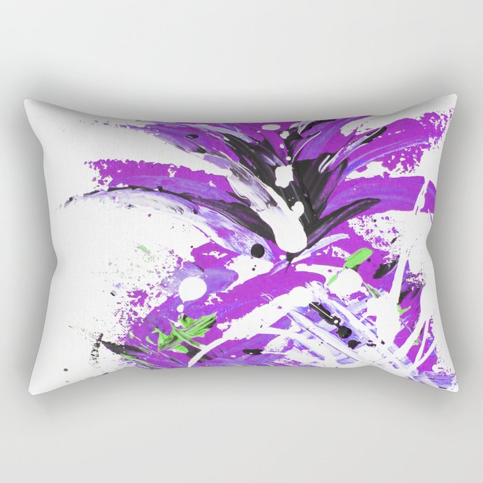 Violet Vacation pineapple Rectangular Pillow
