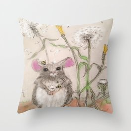 Squeak The Mouse Throw Pillow