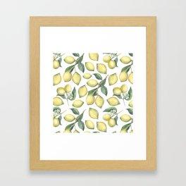 Lemon Fresh Framed Art Print