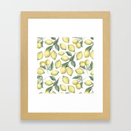 Lemon Fresh Framed Art Print