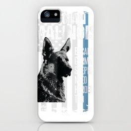 Police Dog Malinois Tshirt Funny K9 Thin Blue Line Flag iPhone Case
