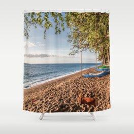 Dauin Beach at Sunrise Shower Curtain