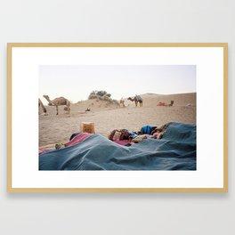 Desert camp Framed Art Print