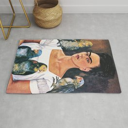 Frida Kahlo Birds Rug