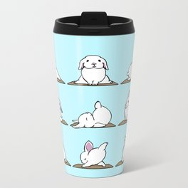 Bunnies Yoga Metal Travel Mug
