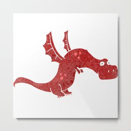 Dragoon in Flight Metal Print
