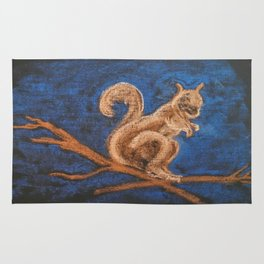 Squirrel Study Rug
