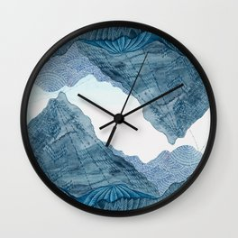 Living as the Mountains Do Wall Clock