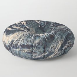 Tiger Eyes - by Julio Lucas  Floor Pillow