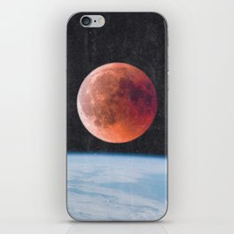 Blood Moon Over Earth iPhone Skin