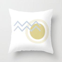 Abstract Sun Stream Throw Pillow