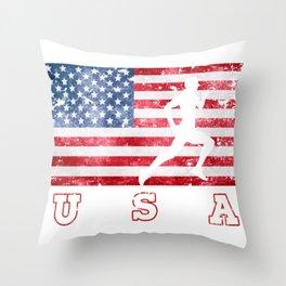 Team USA Athletes on Olympic Games Throw Pillow