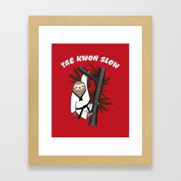 Tae Kwon Slow - Funny Martial Art Sloth Framed Art Print