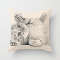 Rub my belly... Throw Pillow