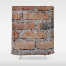 Aged Brick Wall rustic decor Shower Curtain