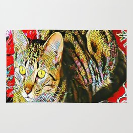 The TIGER from our FUNK YOUR FELINE line Rug
